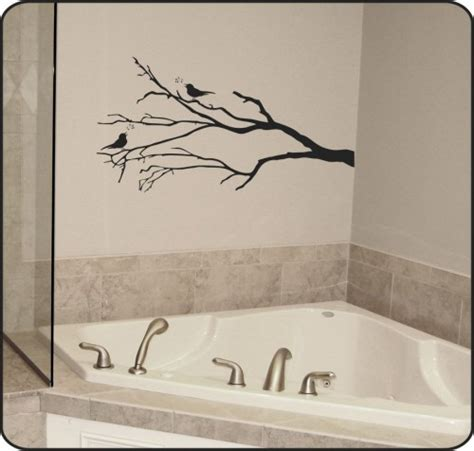 tree branch wall stickers bare winter tree branch wall decal w birds removable vinyl sticker touchofvinyl housewares