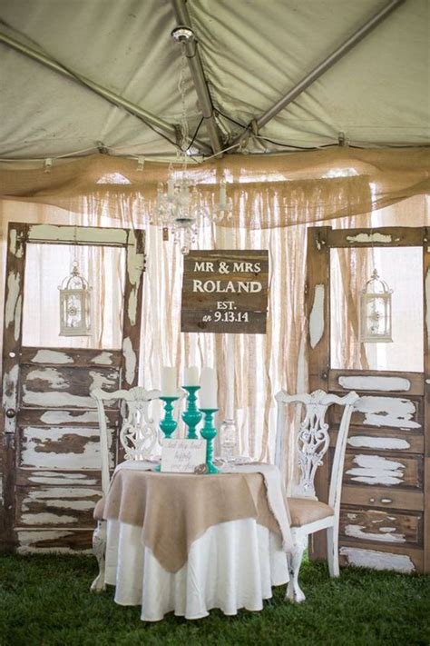 wood country wedding table ideas homemydesign