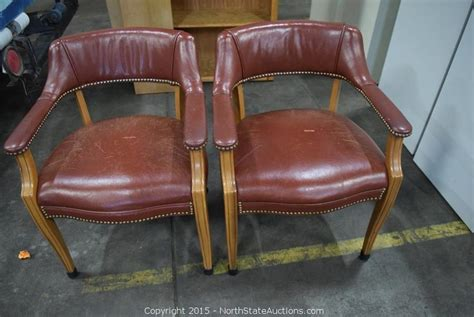 Leather Waiting Room Chairs by State Auctions Auction Northstate March Auction Item 2 Leather Waiting Room Chairs 2