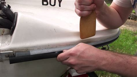 how to install boat rub rail insert installing replacing flexible vinyl rub rail insert from