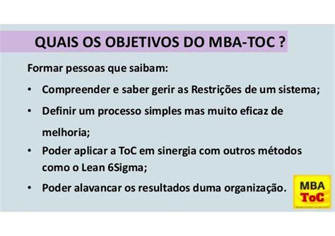Mba O Que é by Apresenta 231 227 O Mba Toc Teoria Das Restri 231 245 Es