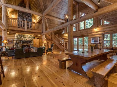 4000 sqft log cabin on 5 acres sleeps 12 vrbo