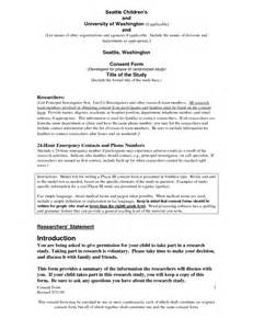 Irb Informed Consent Template best photos of consent form template exles informed