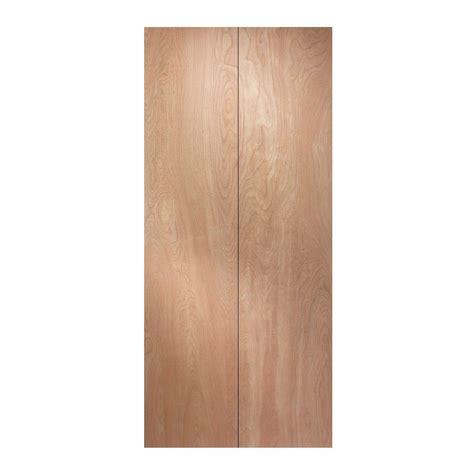 jeld wen 30 in x 80 in woodgrain flush hollow birch