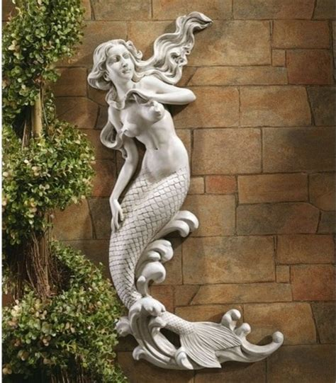 Statue For Garden Decor The Mermaid Of Langelinie Cove Wall Decor Modern Garden Statues And Yard