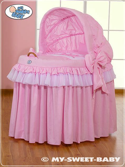 My Sweet Baby Royal Wicker Crib Moses Basket Pink Ebay My Sweet Baby Crib