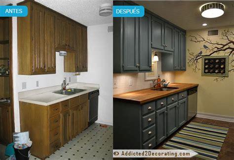 pintar muebles de cocina antes  despues fotos
