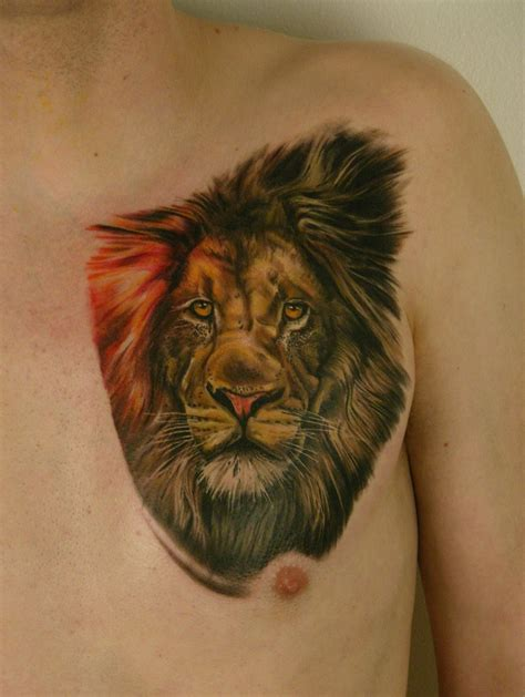lion tattoos on chest tattoos chest beautiful design idea for and