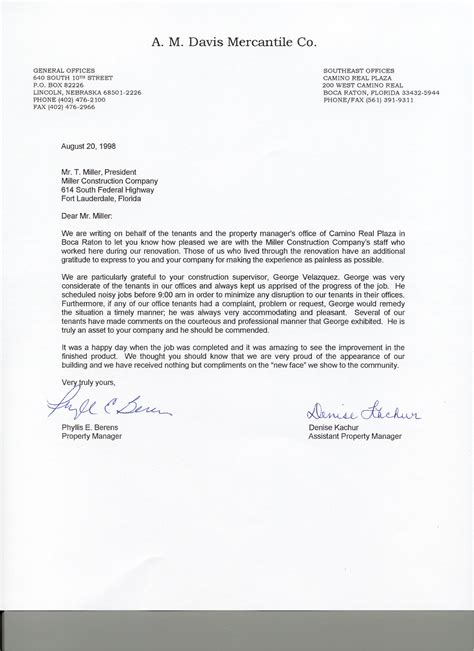 Business Reference Letter For A Company miller construction co testimonials and ratings proview