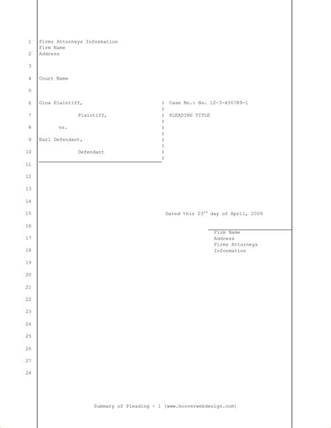 legal pleading template blank legal pleading paper red