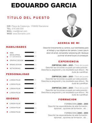 Modelo De Curriculum De Hosteleria modelo de curriculum vitae vendedor modelo de curriculum