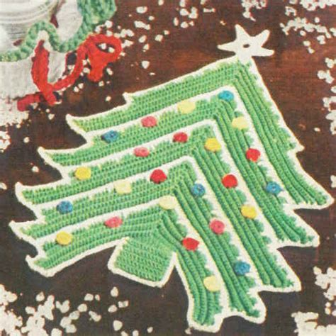 crochet christmas tree potholder pattern christmas tree potholder free crochet pattern