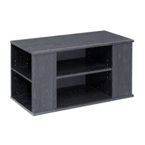 6 Shelf Tv Stand by Talon 6 Shelf Laminate Tv Stand In Black Oak He102212n The Home Depot