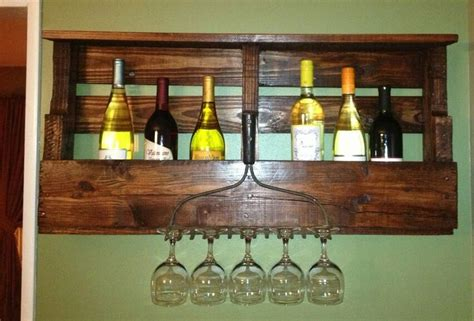 Wine Rack Made From Pallets by Wine Rack Made From A Pallet Just Stained It And Added An