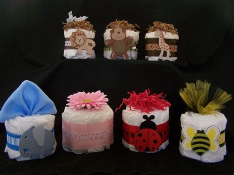 Mini Diaper Cakes Centerpieces Baby Shower Ideas Baby Mini Cakes For Centerpieces