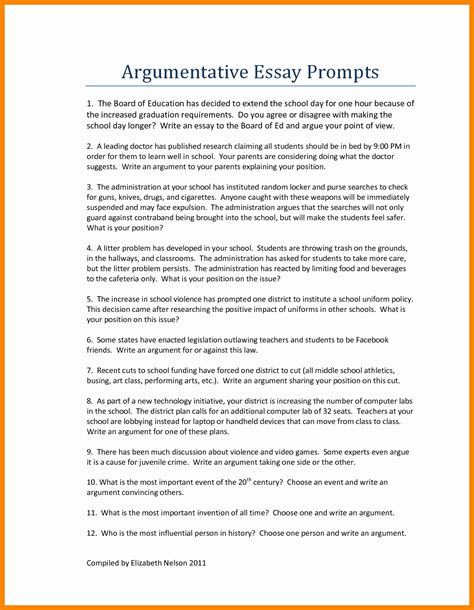 essay outline template for high school argumentative essay format high school exles and forms