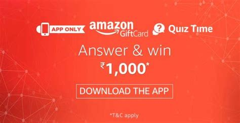 Quiz Gift Cards - all answers added amazon gift cards quiz win upto 1000 amazon pay balance