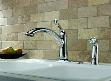 delta faucet 4453 ar dst linden single handle side sprayer delta 4453 dst linden dst single handle kitchen faucet