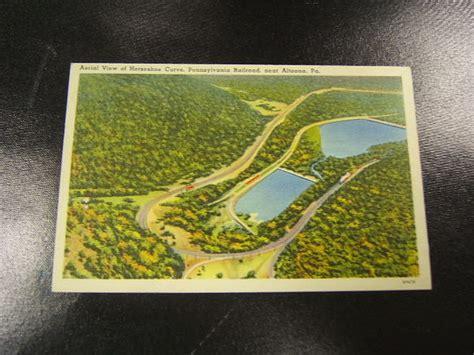 sporting goods altoona pa postcard horseshoe curve aerial pa railroad altoona pa ebay