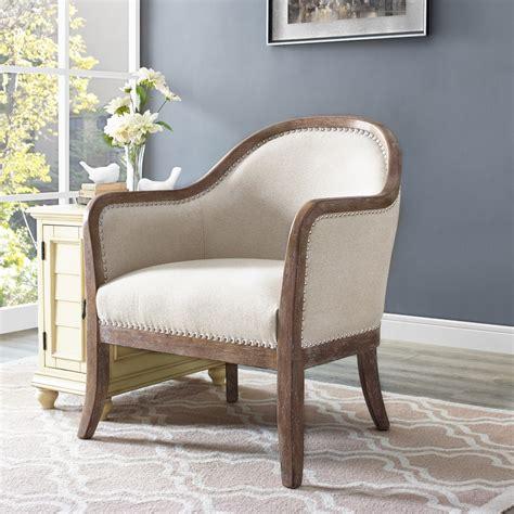 pulaski farmhouse style beige accent chair ds