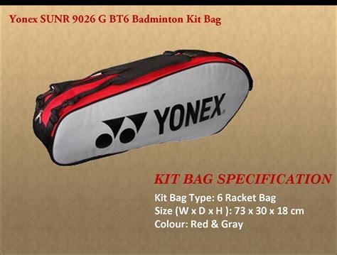 Yonex Sports Bag Sunr Wp10tk Bt6 S top selling yonex badminton kit bags khelmart org it s