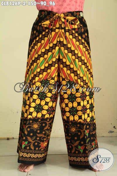 Kulot Motif Bunga Bahan Katun model celana kulot batik motif sinaran bahan halus proses