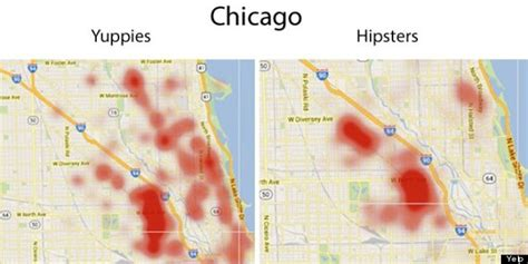 chicago financial district map yelp helps you avoid hipsters and yuppies in your city
