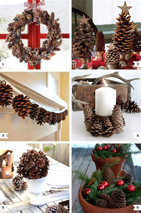 pine cone decor ideas for christmas chickabug