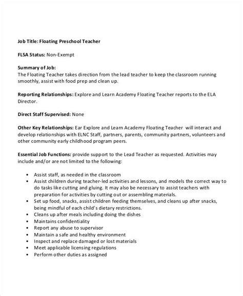 10 preschool descriptions in pdf free premium templates