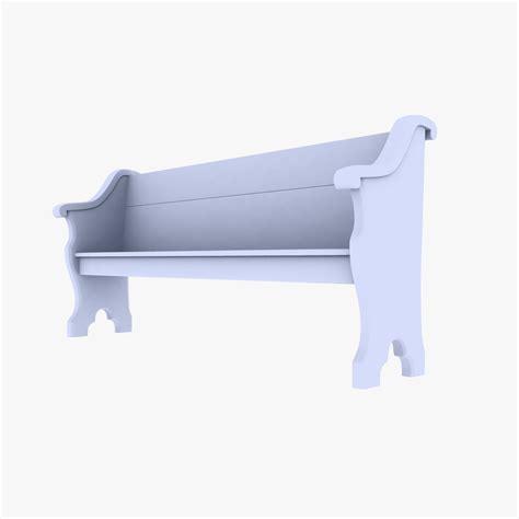 church bench church bench 3d model game ready max obj 3ds fbx dxf cgtrader com