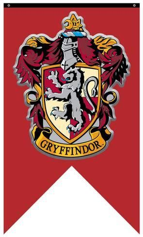 harry potter gryffindor crest banner poster at