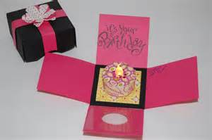 box of birthday cards the crafty touch explosion box birthday card with