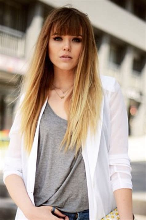 images of ombre hairstyles with fringes 17 best images about to blunt bangs or to not on