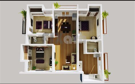 modern apartment plans modern home plan large terrace single story google