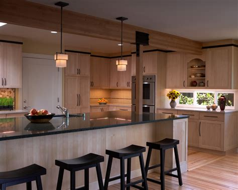 natural maple kitchen cabinets kitchen contemporary with ceiling lighting clerestory island maple shaker cabinets kitchen contemporary with natural
