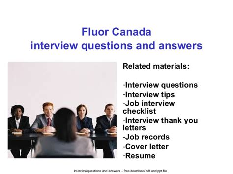 fluor canada questions and answers