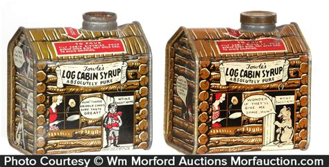 antique advertising towles log cabin syrup tins antique advertising