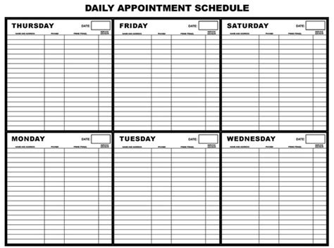 make calendar appointment 13 best photos of printable daily appointment calendar