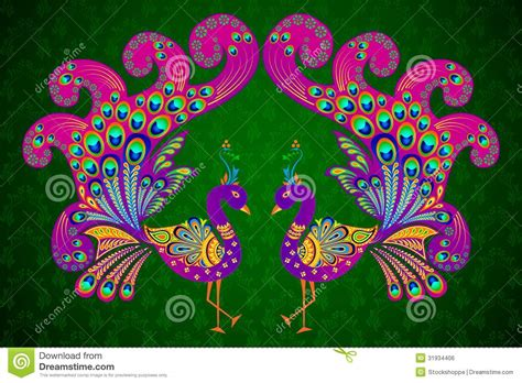design free stock photo illustration of a colorful colorful decorated peacock royalty free stock image