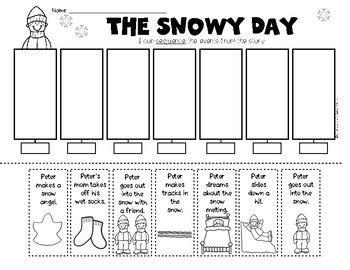 kindergarten activities book snowy day the snowy day sequencing retelling kindergarten first