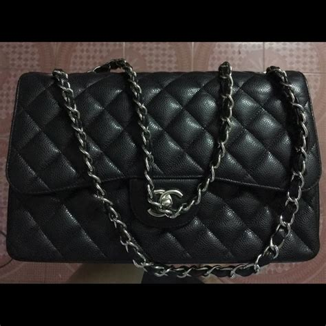Ode To Kates Jumbo Chanel Flap by Chanel Chanel Flap Jumbo Black Caviar From Chanel