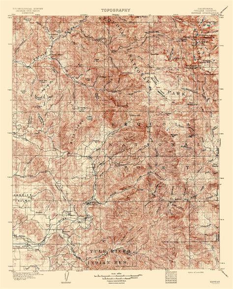 california quadrangle map historical topographical maps kaweah california