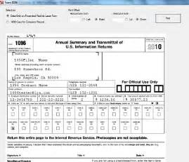 Irs Form 1096 Template by Sle Completed 1096 Form
