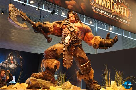 wow recap new wod patch notes wod gamescom interviews gamescom 2014 blizzplanet grom hellscream statue 6