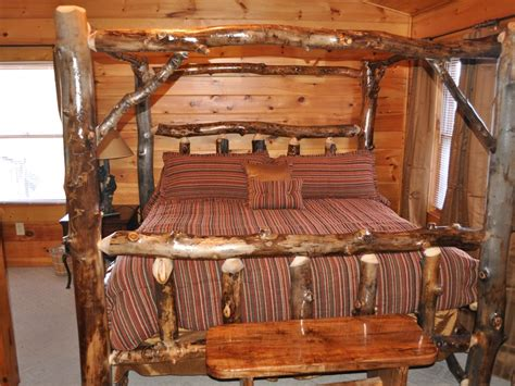 log headboard kits location 1 mile to pkwy king log bed vrbo