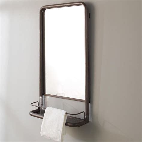 Bathroom Mirrors With Shelves Metal Frame Pharmacy Mirror With Shelf Pharmacy Shelves And Metals