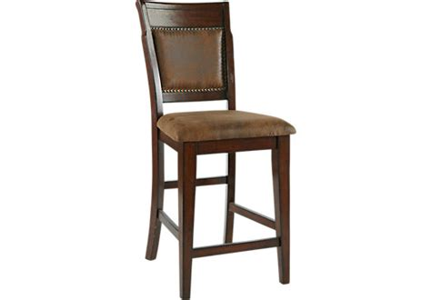 rooms to go bar stools mango brown upholstered counter height stool barstools brown wood
