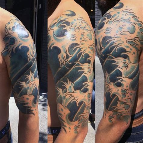 half sleeve tattoo japanese designs 60 japanese wave designs for oceanic ink ideas