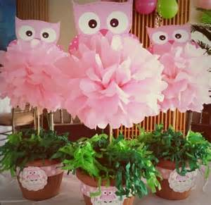 baby shower owl centerpieces centerpieces baby shower decoration