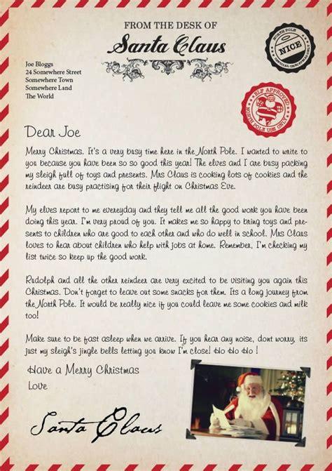 printable letter from santa uk letter from santa uk sle letter template